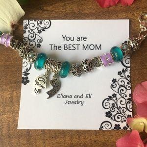 Mother and Daughter Charm Adjustable Bracelets